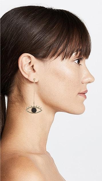 Contempoh Eye Linear Drop Earrings