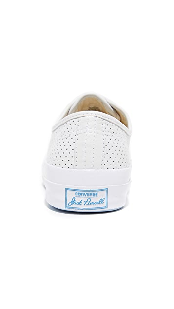 Converse Jack Purcell Signature Perforated Leather Sneakers