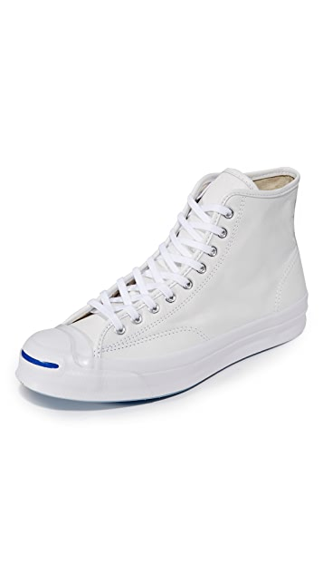fd3a7361639577 Converse Jack Purcell Leather Signature High Top Sneakers
