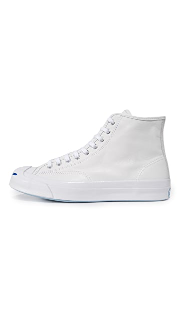 Converse Jack Purcell Leather Signature High Top Sneakers
