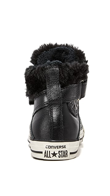 converse chuck taylor all star brea leather/fur hi
