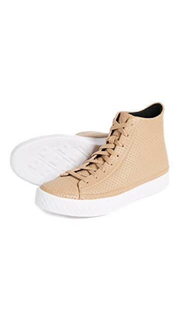Converse Chuck Modern Perforated Leather High Top Sneakers