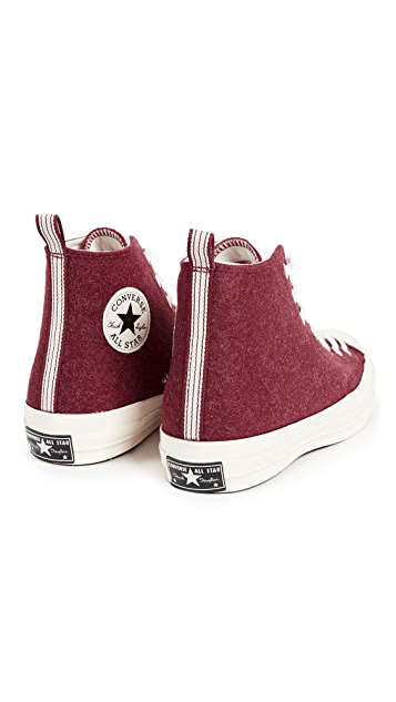 Converse Chuck Taylor '70s Heritage Felt High Top Sneakers