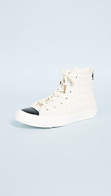 c324ff41dc1a Converse Chuck Taylor All Star Back Zip High Top Sneakers