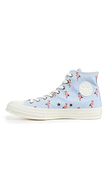 Converse Chuck Taylor All Star Sneakers with Flamingo Embroidery