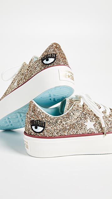 Converse Canvas One Star X Chiara Ferragni Lace Up Sneakers