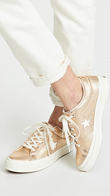 e404d4d4420a4c Converse One Star OX Metallic Sneakers