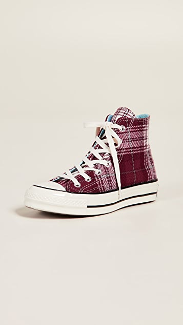 308399fad0130f Converse Chuck 70 Plaid High Top Sneakers