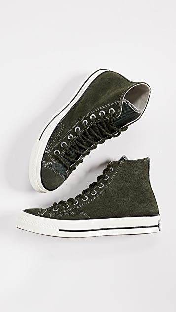 53cf61696d8a ... Converse Chuck Taylor 70 Base Camp Suede High Top Sneakers ...