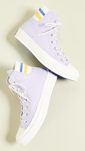 Converse Chuck 70 Retro Stripe High Top Sneakers - Oxygen Purple