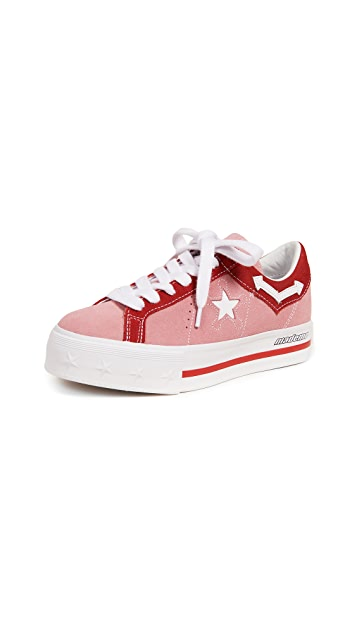 Converse x MadeMe One Star Lift Platform Sneakers