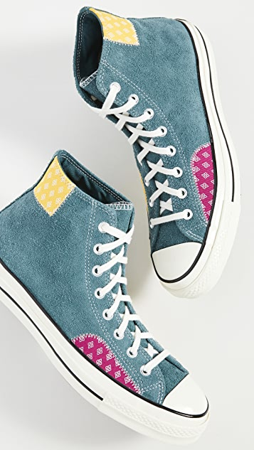 Converse Chuck 70 Twisted Prep Patchwork-High Top Sneakers