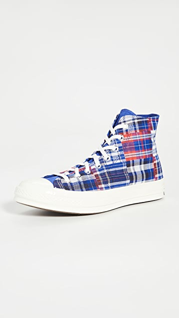Converse Chuck 70 Twisted Prep Woven-High Top Sneakers