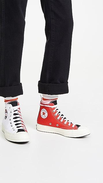 Chuck 70 Logo Play High Top Sneakers