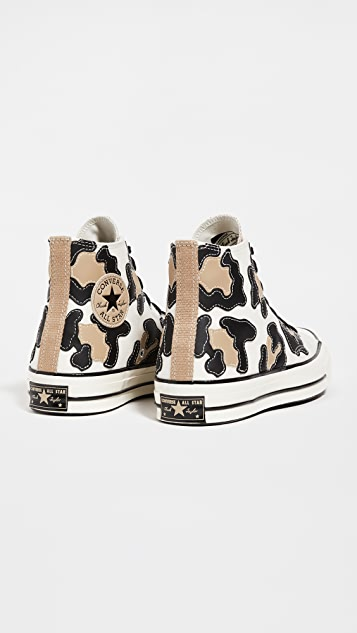 Converse Chuck 70 Archive Leopard High Top Sneakers