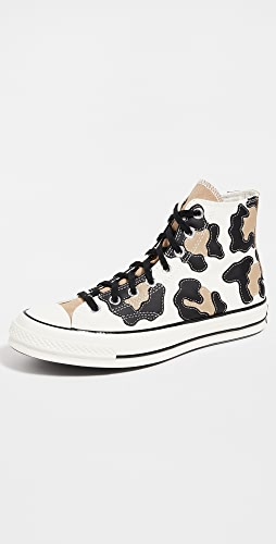 Converse - Chuck 70 Archive Leopard High Top Sneakers