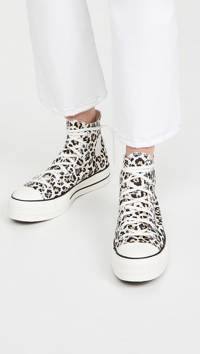 Converse Chuck Taylor All Star Leopard Platform High Top Sneakers ...