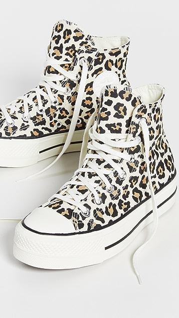 Converse Chuck Taylor All Star Leopard Platform High Top Sneakers