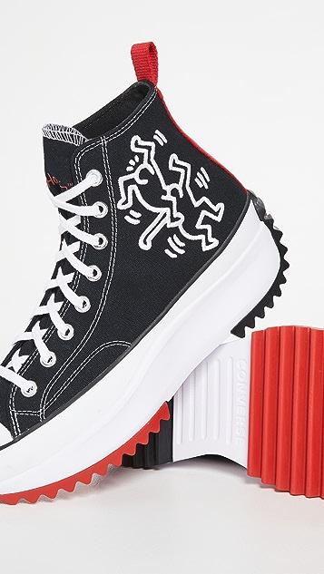 Converse x Keith Haring Run Star Hike High Top Sneakers