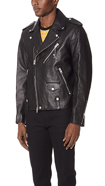 Coach 1941 Unisex Leather Moto Jacket