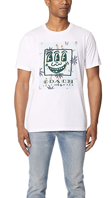 Coach 1941 x Keith Haring 3 Eyed Smiley Concert Tee Shirt