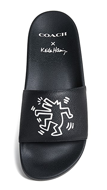 Coach 1941 x Keith Haring Barking Dog Slides