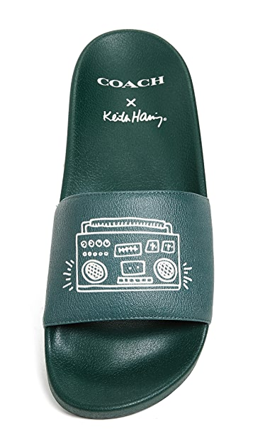 Coach 1941 x Keith Haring Boombox Slides