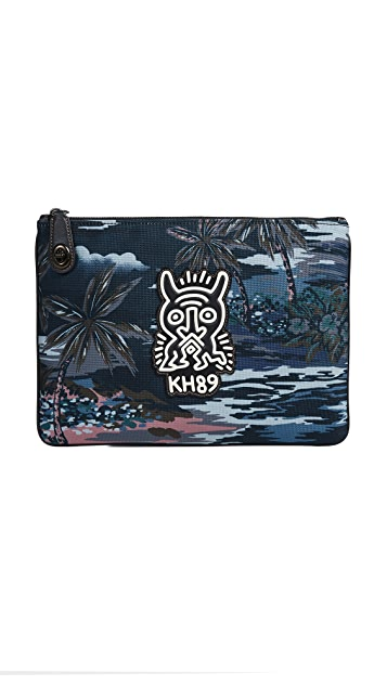 Coach 1941 x Keith Haring Cordura T-Lock Pouch