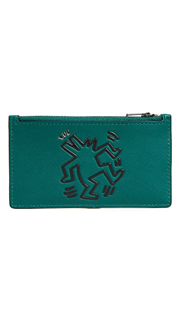 Coach 1941 x Keith Haring Glovetan Zip Card Case