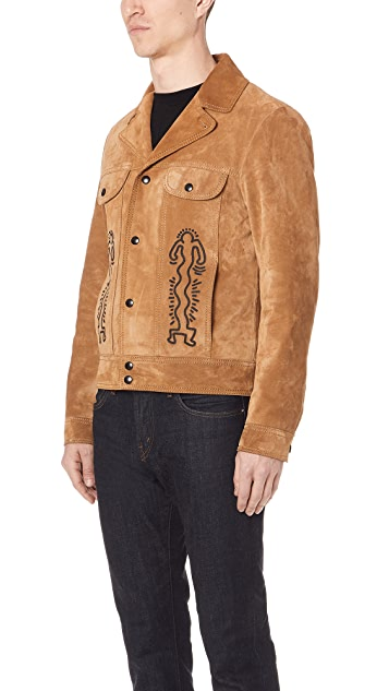 Coach 1941 x Keith Haring Suede Applique Jacket