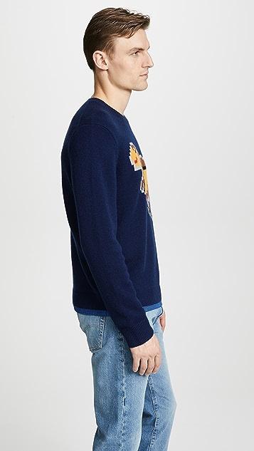 Coach 1941 Pixel Rexy Intarsia Sweater