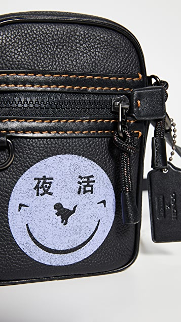 Coach 1941 x Yeti Out Dylan 10 Smiley Face Crossbody Bag