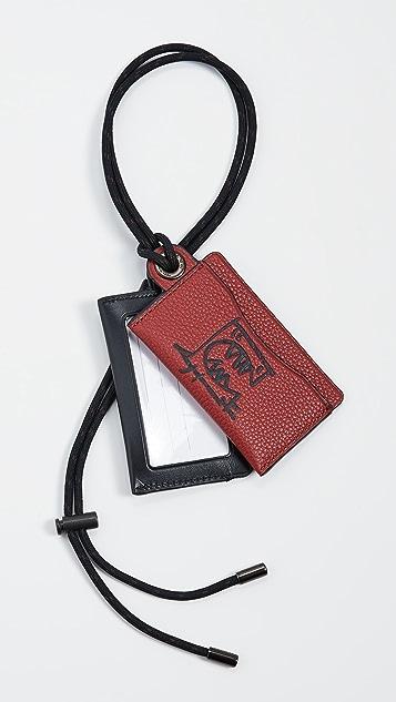 Coach 1941 x C Guang Yu ID Lanyard Card Case
