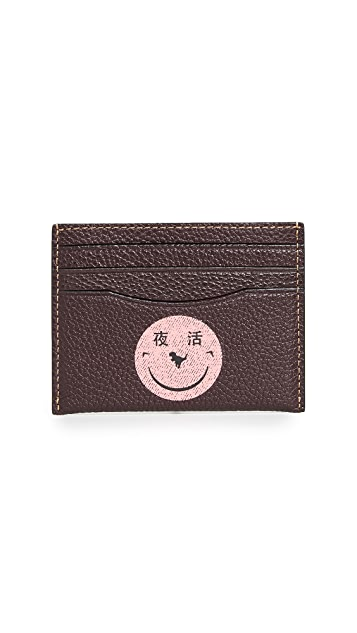 Coach 1941 x Yeti Out Smiley Face Card Case