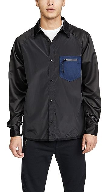 Coach 1941 Colorblock Satin Button Down Shirt