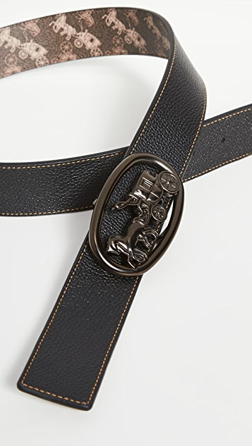 Coach 1941 Horse and Carriage Plaque Belt