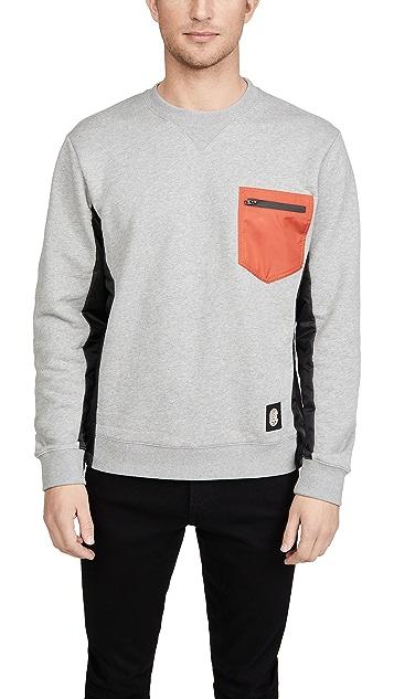 Coach 1941 Nylon Pocket Crew Neck Sweatshirt