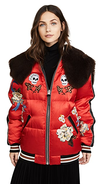 Coach 1941 Wolf Souvenir Puffer Coat with Detachable Collar
