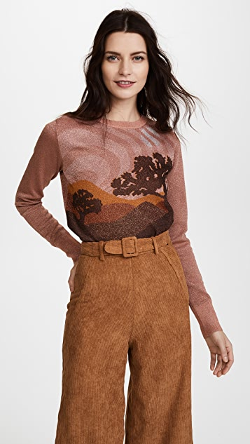 Coach 1941 Landscape Crew Neck Sweater - Rose