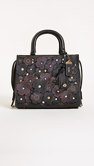 Coach 1941 Tea Rose Applique Rogue Shoulder Bag