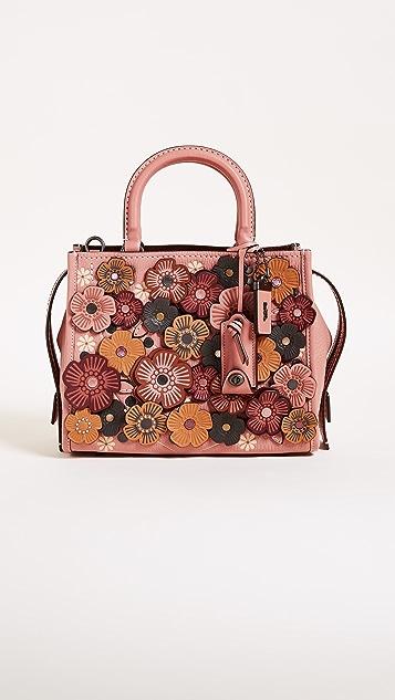 Coach 1941 Tea Rose Applique Rogue Shoulder Bag