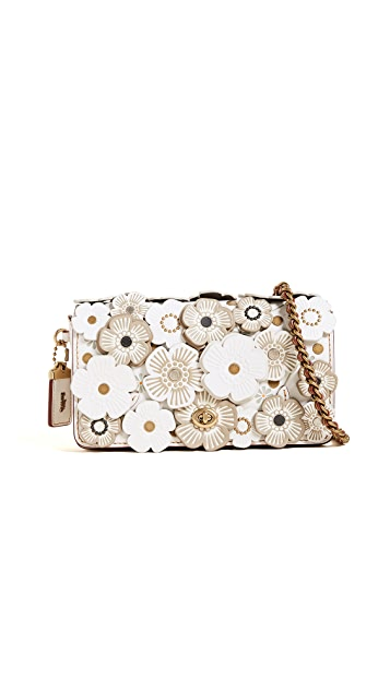 Coach 1941 Tea Rose Applique Dinky Cross Body Bag