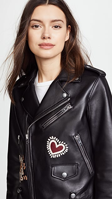 Coach 1941 x Keith Haring Moto Jacket