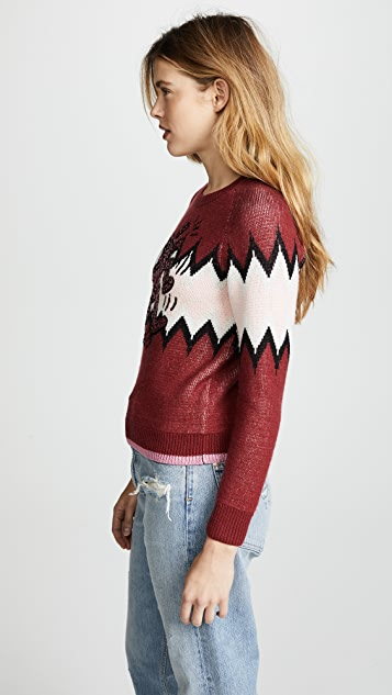 Coach 1941 x Keith Haring Zigzag Crew Neck Sweater
