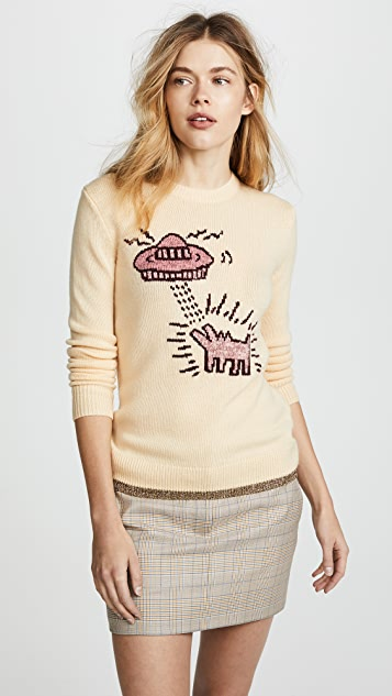 Coach 1941 x Keith Haring Intarsia Crew Neck Sweater
