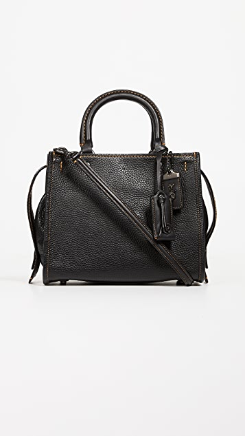 Coach 1941 Glovetanned Pebble Leather Rogue Bag 25 - Black