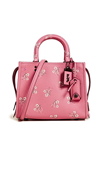 Coach 1941 Floral Bow Print Rogue Bag 25