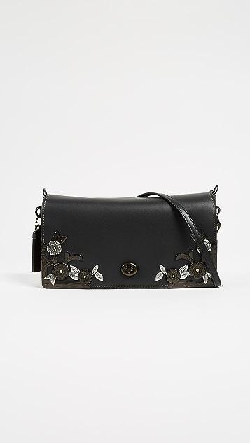 Coach 1941 Metal Tea Rose Dinky Bag - Black