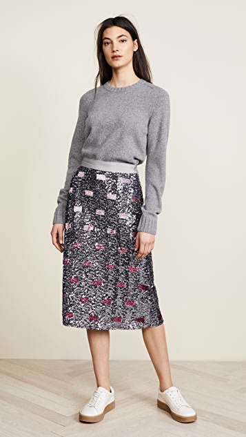 Coach 1941 Long Sequin Embellished Skirt