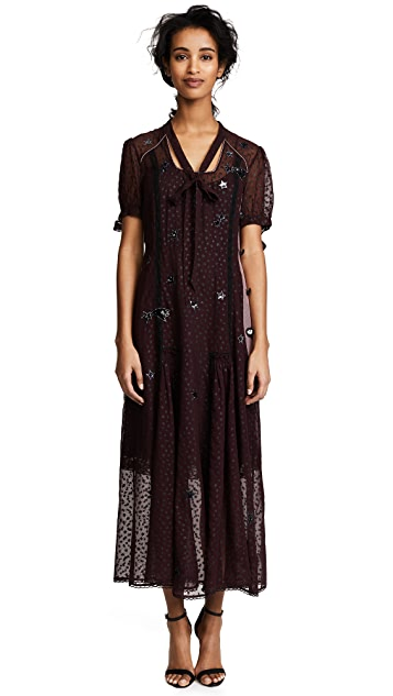 Coach 1941 Long Star Print Dress